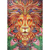5D DIY Special Shaped Diamond Painting Lion Cross Stitch Mosaic Craft Kits N#S7