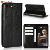 Luxury Genuine Leather Wallet Flip Case Stand Cover For Huawei Honor View 10