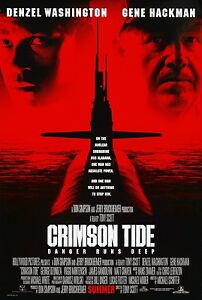 CRIMSON TIDE (1995) ORIGINAL MOVIE POSTER  -  ROLLED  -  DOUBLE-SIDED