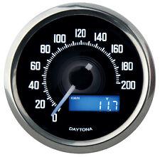 Daytona 'Velona' mini digital Tachometer 200km/h, Abm. 60x45 mm, Edelstahl