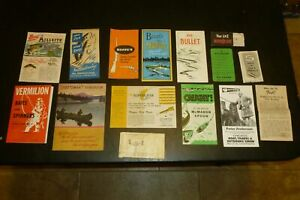 LOT OF VINTAGE FISHING LURE BOX CATALOG, HOPPES, GARCIA, & SPORTSMAN'S HANDBOOK