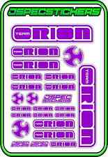 TEAM ORION RC STICKERS ESC MOTOR BRUSHLESS VORTEX CAR BUGGY JSPEC PURPLE WHITE