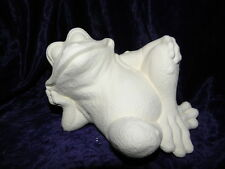 Ceramic Bisque Ready to Paint - Goofy Garden Frog Reclining