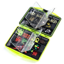 Assorted Fishing Fish Tackles Swivels Lures Baits JIG Head Hooks Kit Box Case