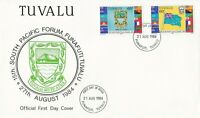 BC713) Tuvalu 1984 arms of Tuvalu fdc