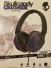 New Original Skullcandy Crusher Headphones (Blue / Gray) Supreme Sound and Bass