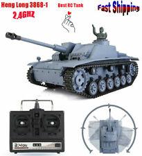 HengLong 3868-1 2.4G Radio RC 1/16 Simulation German III Tank w/Smoke & Sound e