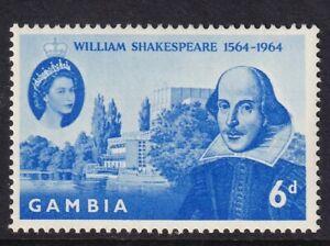 GAMBIA 1964 6d Shakespeare MUH (971)