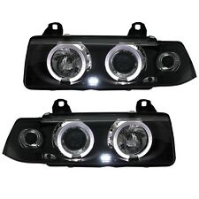2 FEUX PHARE AVANT ANGEL EYES LED MONOBLOC BMW SERIE 3 E36 BERLINE