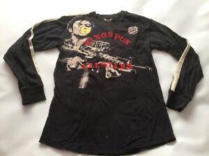 Adult Men's Genuine Ringspun Long Sleeved T-shirt Size Large Vgc Scarface