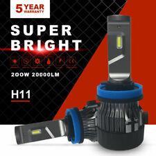 Mini H11 H9 H8 Cree 200W 20000LM LED Headlight Bulb Kit 6500K Turbo Low Beam 7FP