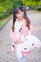 Lolita Girl'S Bowknot Rabbit Plush Cute Handbag Shoulder Bag Kawaii White 2020