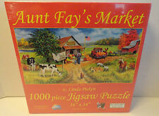 SUNSOUT AUNT FAY'S MARKET 1000 PC JIGSAW PUZZLE LINDA PICKEN NEW SEALED