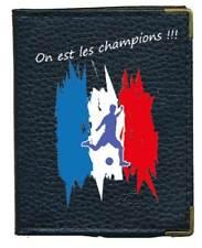 Pochette Etui Porte Cartes bancaire fidélité 24 cartes foot on est les champions