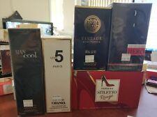 Lot of Branded perfume fragrance FERRERA HUGO VERSACE VINTAGE Paris 5pcs/lot