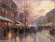 Vintage painting /Poster/Print/BOULEVARD OF LIGHTS PARIS /Reproduction