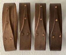 Frye's Measure Mill Set 4 Wood Oval Shaker Pantry Box NAPKIN RINGS Canterbury NH