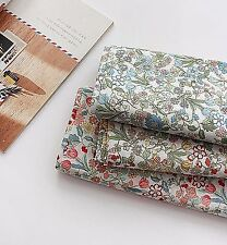 Riri Flowers 100% cotton fabric (By The Yard) Asa Floral Lightweight JAS44<*