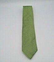 """Bruno Pirttelli Men's Neck Tie Green & Blue Check Pattern Silk 53"""" x 3"""""""