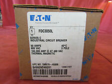 Cutler-Hammer Circuit Breaker Fdc3050L Series C 50-Amp 600-Vac 3-Pole Fac Sealed