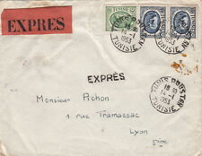 Lettre Tunisie Tunis Double Expres >> France 1953 Tunisia Cover