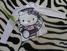Hello Kitty mit Walkman Mädchen Langarm Shirt 110/116 H&M lila weiß Punkte TOP