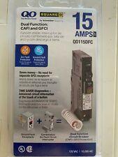 Square D Qo115dfc 15a 1 Pole Plug In Mini Circuit Breaker Black
