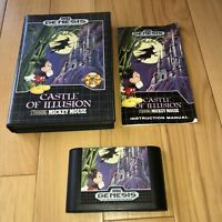 VG COND Castle Of Illusion Starring Mickey Mouse Sega Genesis Complete CIB Works