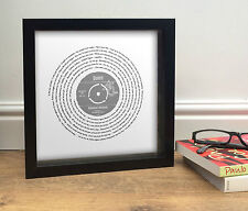More details for queen bohemian rhapsody | rare vinyl record style framed print | can personalise