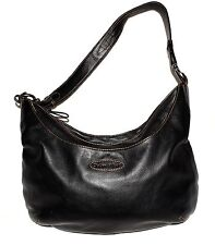 Chelsea & Scott Black Pebbled Thick Leather Multi Pocket Shoulder Diaper Bag