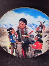 1991 Hamilton Proud Indian Families The Storyteller Ltd Ed Plate