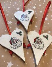 """Noël Cadeaux LUXE VELOURS ROUGE 5/"""" cravate sur des Arcs Arbre Bows etc.. Pack de 3"""