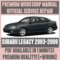 *WORKSHOP MANUAL SERVICE & REPAIR GUIDE for SUBARU LEGACY 2003-2009 +WIRING