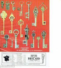 PUBLICITE ADVERTISING 106  1973  les clés & serrures Bricard