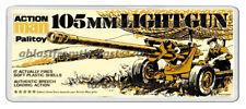 ACTION MAN PALITOY 105MM LIGHT GUN BOX ARTWORK NEW WIDE FRIDGE LOCKER MAGNET