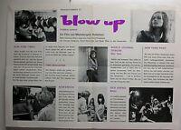 BLOW UP 1966 ORIGINAL FRENCH PRESSBOOK VANESSA REDGRAVE DAVID HEMMINGS