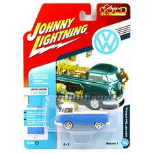 JOHNNY LIGHTNING JLCP7108 A 1965 VW VOLKSWAGEN TYPE 2 PICK UP 1/64 PASTEL BLUE