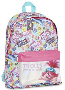 Trolls World Tour Backpack Girls Brand New