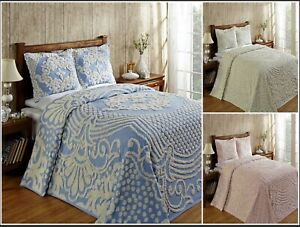 Better Trends Florence 100% Cotton Tufted Chenille Bedspreads or Shams
