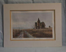 Les Barnett Country Church Limited Edition Signed Print dated 1984