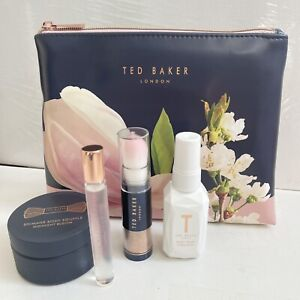 Ted Baker Shimmering Beauty Vanity Set Wash Bag Body Spray Perfume Souffle