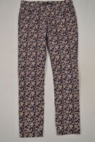 Levi's Size 10 Mid Rise Skinny Ankle Blue Floral Stretch Denim Jeans