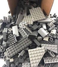 200+ Pieces GRAY LEGO Bulk Lot Bricks Plates Tiles & More