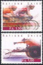UN (G) 2005 Sports/Games/Cycling/Bikes/Bicycle/Wheelchair Racing 2v set (n35072)