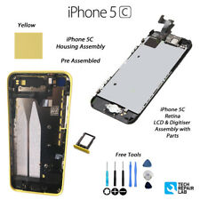 NEW Complete LCD Assembly + Back Cover Housing Replacement For iPhone 5C YELLOW