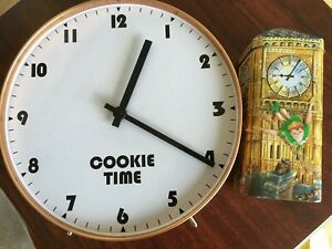 Cookie Clock Tin Biscuit Peter Pan Big Ben Churchill's Money Box Disney Empty