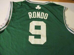BOSTON CELTICS RAJON RONDO #9 ADIDAS BRAND 2011 BASKETBALL JERSEY- XL RARE