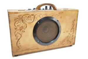 Amplificatore artigianale Wine Box per CIGAR BOX GUITAR  10 w Robert Matteacci
