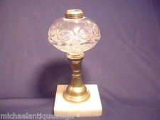 Antique Whale Oil Lamp In The Ring Punty Sawtooth & Eye Pattern C 1860