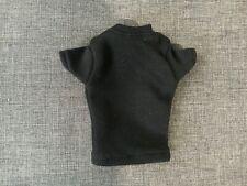 "Elite Brigade 1/6 Scale 12"" Black Short Sleeve Action Figure Shirt New NHC-238"